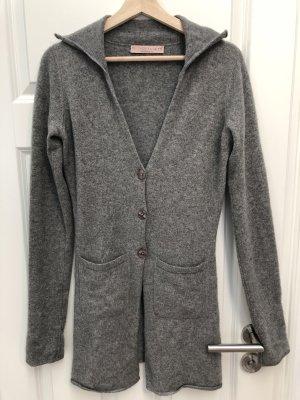 FTC Cashmere Manteau en tricot gris
