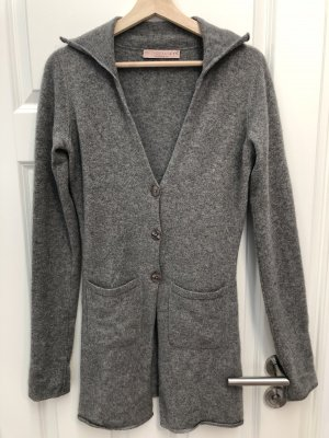 FTC Cashmere Knitted Coat grey