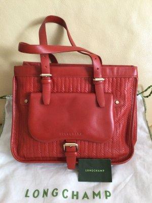 Longchamp Bolsa de hombro bermejo-rojo oscuro Cuero