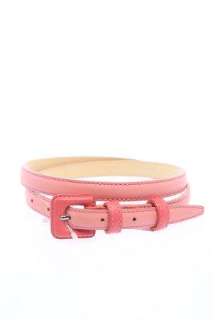 Longchamp Cinturón de cuero de imitación rosa