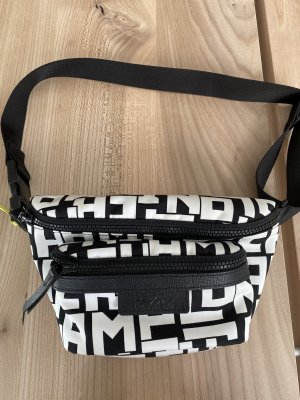 Longchamp Buiktas wit-zwart