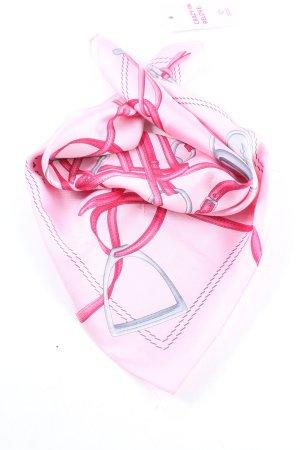 Longchamp Neckerchief pink-light grey allover print casual look