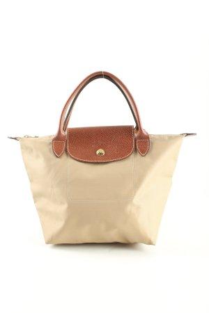 Longchamp Handbag cream-brown animal pattern casual look