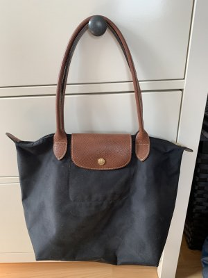 Longchamp Handbag black-cognac-coloured