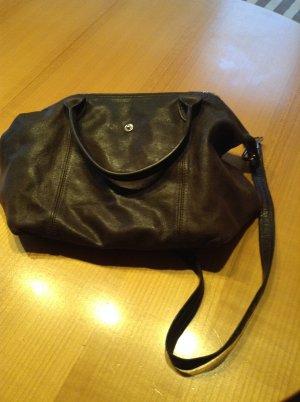 Longchamp Handtasche, Beutelform, Leder, dunkelbraun
