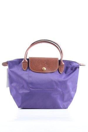Longchamp Handtasche lila-braun Casual-Look