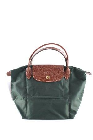 Longchamp Handtasche grün-braun Casual-Look