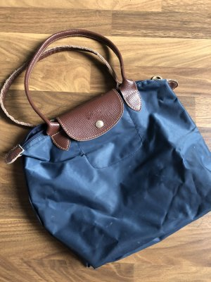 Longchamp Handbag steel blue-cornflower blue