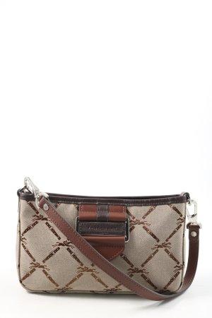 Longchamp Henkeltasche wollweiß-braun abstraktes Muster Casual-Look