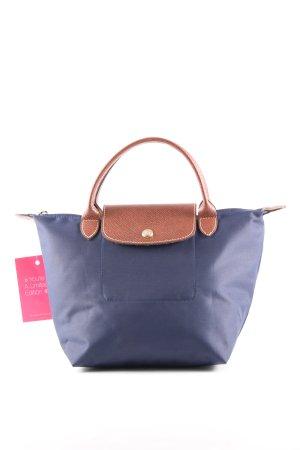 Longchamp Henkeltasche blau-braun Casual-Look