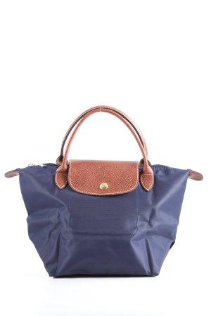 Longchamp Bolso barrel azul-marrón look casual