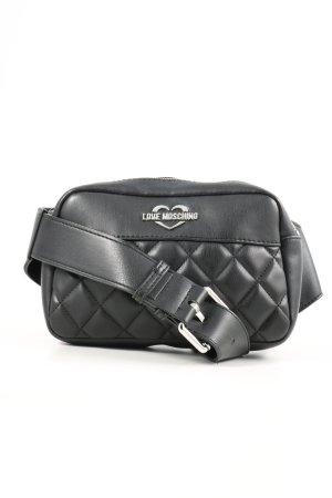 Longchamp Henkeltasche schwarz Steppmuster Casual-Look