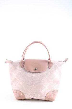 Longchamp Henkeltasche pink Karomuster Casual-Look