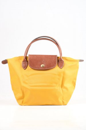 Longchamp Bolso barrel amarillo pálido-marrón look casual