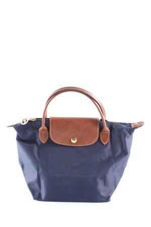 Longchamp Borsa con manico blu-marrone stile casual
