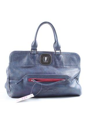 Longchamp Henkeltasche blau Business-Look