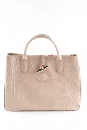 Longchamp Henkeltasche creme Animalmuster Business-Look