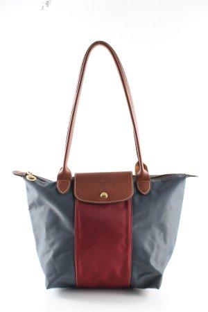Longchamp Henkeltasche blau-rot Casual-Look