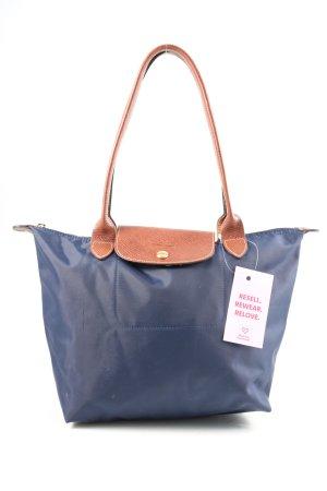 Longchamp Henkeltasche blau-hellorange Casual-Look