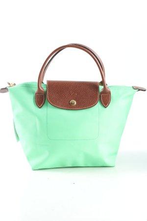 Longchamp Henkeltasche grün-braun Casual-Look