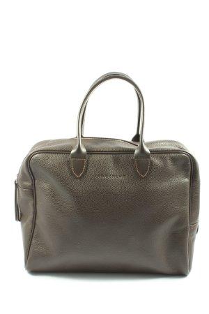 Longchamp Henkeltasche braun Motivdruck Casual-Look