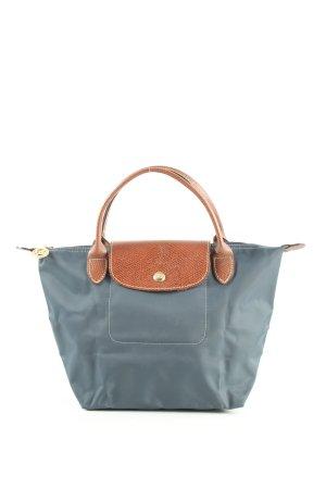 Longchamp Henkeltasche blau-braun Animalmuster Casual-Look