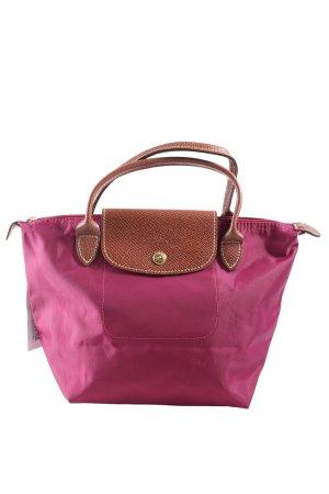 Longchamp Henkeltasche pink-braun Casual-Look