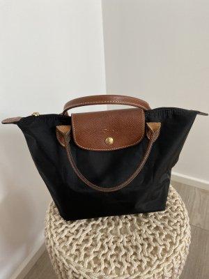 Longchamp Custodia per cellulare nero-marrone