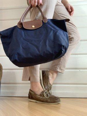 Longchamp kurze Henkel blau