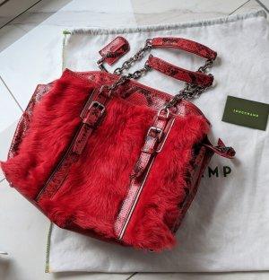 Longchamp Lammpelz Leder Handtasche