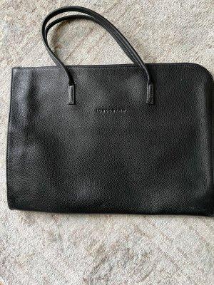 Long  Champ Laptop bag black leather