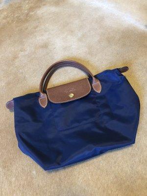 Longchamp Le pliage blau s klein braun shopper Handtasche
