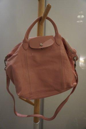 Longchamp Le Pliage le Cuir Leder Tasche rosa
