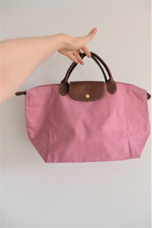 Longchamp Le Pliage M Tasche faltbar rose rosa braun