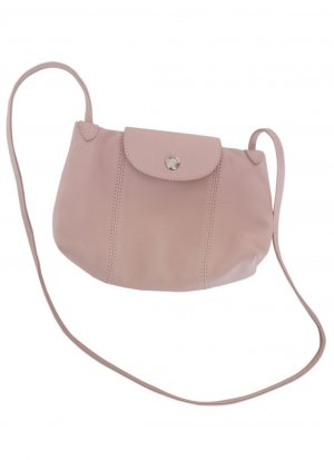 Longchamp le pliage Messenger Leder bag