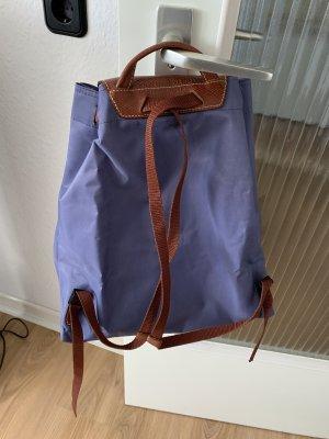 Longchamp Laptop rugzak paars-bruin Leer