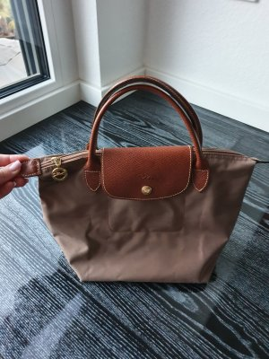 Longchamp Bolso barrel marrón claro Nailon