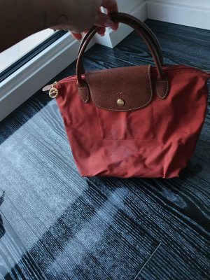 Longchamp Bolso barrel rojo claro Nailon