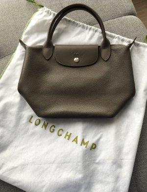 Longchamp Le Pliage S Leder braun/grau