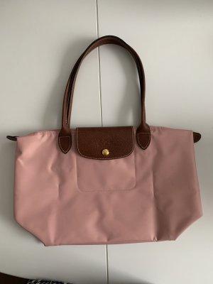 Longchamp Le Pliage Shopper gr S mit defektem Reißverschluss rosa