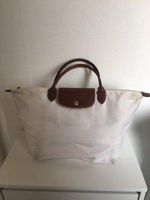Longchamp Le Pliage Shopper Tasche Handtasche Reisetasche Weiß