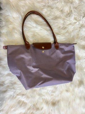 Longchamp le pliage tasche shopper violet sehr gute erhalten