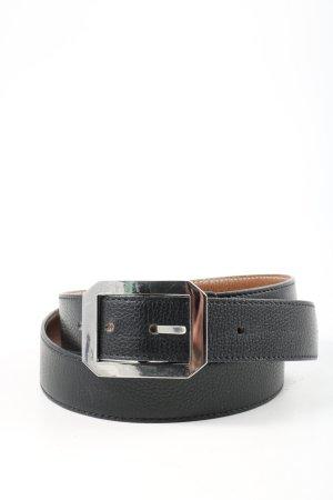 Longchamp Ceinture en similicuir noir style décontracté