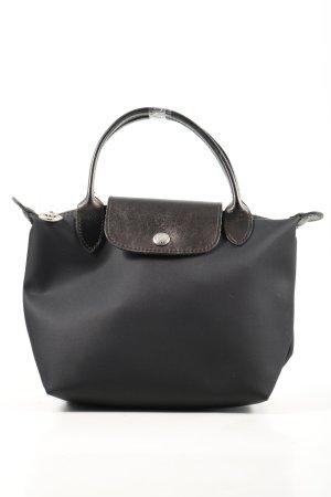 Longchamp Mini sac noir-bronze imprimé avec thème style décontracté