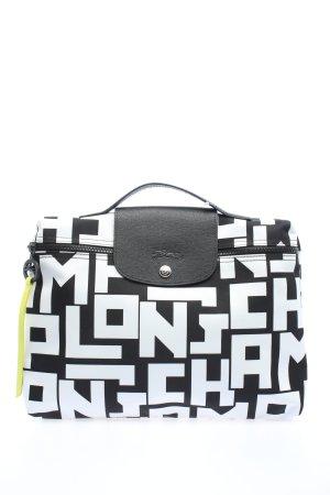 Longchamp Notebooktasche weiß-schwarz Allover-Druck Casual-Look