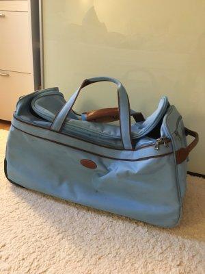 Longchamp Maleta azul neón
