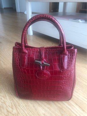 Longchamp roseau rot croco Optik