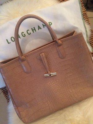 Longchamp Torba shopper nude