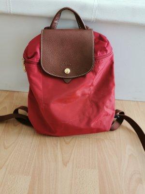 Longchamp Sac à dos de randonnée rouge
