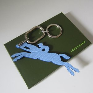 Longchamp Breloczek do kluczy chabrowy-srebrny